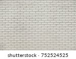 old white brick wall background ... | Shutterstock . vector #752524525