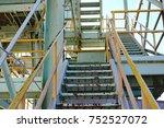rusty metal stairs | Shutterstock . vector #752527072