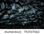 rock formation in hexagons in a ... | Shutterstock . vector #752537062