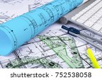 architectural blueprints... | Shutterstock . vector #752538058