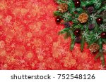 red christmas new year's... | Shutterstock . vector #752548126
