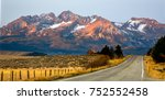 The Sawtooth Mountains And A...