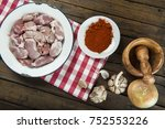 raw and fresh suckling pig... | Shutterstock . vector #752553226