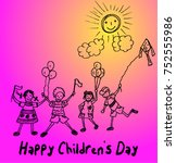 happy children's day | Shutterstock .eps vector #752555986