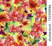watercolor background of...   Shutterstock . vector #752558986