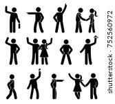stick figure different arms... | Shutterstock . vector #752560972