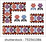 vector ethnic ukrainian pattern....   Shutterstock .eps vector #752561386