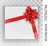 gift box. white christmas gift... | Shutterstock .eps vector #752562766