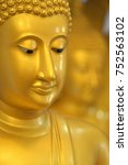 the face of buddha   Shutterstock . vector #752563102