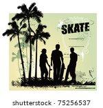 skate scene with three boys...