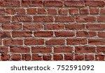 weather beaten brick wall   Shutterstock . vector #752591092