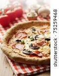 pepperoni and mushrooom pizza... | Shutterstock . vector #75259468
