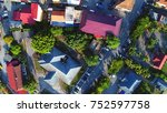 aerial view. a view of small... | Shutterstock . vector #752597758
