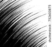 vector black and white grunge... | Shutterstock .eps vector #752603875