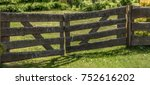 An Old Wooden Fence Near The...