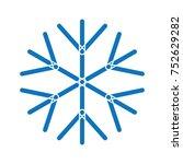 snowflake symbol for christmas... | Shutterstock .eps vector #752629282