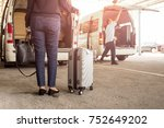 woman tourist standing with... | Shutterstock . vector #752649202