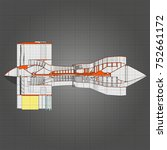 turbo jet engine aircraft.... | Shutterstock .eps vector #752661172