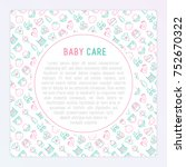 baby care concept with thin... | Shutterstock .eps vector #752670322