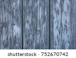 rustic blue gray wood wall | Shutterstock . vector #752670742