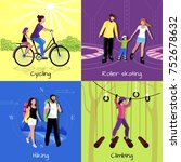 active leisure concept with... | Shutterstock . vector #752678632