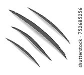 animal claws scratches. claw... | Shutterstock .eps vector #752685256