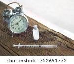 injections  bottles  pills and... | Shutterstock . vector #752691772