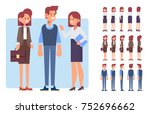male and female business people.... | Shutterstock .eps vector #752696662