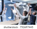 group of young business people...   Shutterstock . vector #752697445