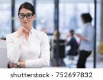portrait of successful... | Shutterstock . vector #752697832