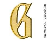 elegant metallic gold uppercase ... | Shutterstock . vector #752702038