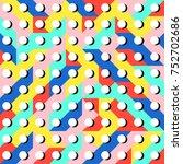 abstract 1980 memphis geometric ...   Shutterstock .eps vector #752702686