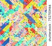 abstract 1980 memphis geometric ...   Shutterstock .eps vector #752703466