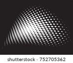 vector halftone backgrounds | Shutterstock .eps vector #752705362