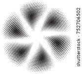 vector halftone background | Shutterstock .eps vector #752706502