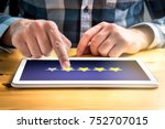 good review. satisfied and...   Shutterstock . vector #752707015