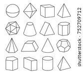isometric geometric figures.... | Shutterstock .eps vector #752709712