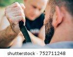 kapap instructor demonstrates... | Shutterstock . vector #752711248