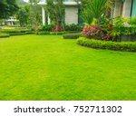 landscaped formal garden front... | Shutterstock . vector #752711302