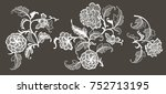 lace floral elements for your... | Shutterstock .eps vector #752713195