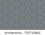 seamless vintage ornament on... | Shutterstock .eps vector #752715862