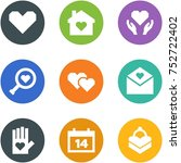 origami corner style icon set   ... | Shutterstock .eps vector #752722402