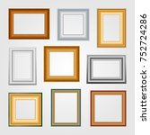 set of picture frames on white... | Shutterstock . vector #752724286