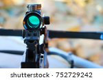 crossbow optical sight  aiming... | Shutterstock . vector #752729242