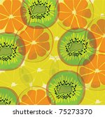 colorful fruit background | Shutterstock .eps vector #75273370