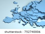 Europe 3d map