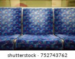 blue seats on the central line  ... | Shutterstock . vector #752743762