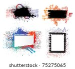 isolated creative design ... | Shutterstock .eps vector #75275065