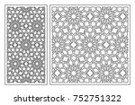 set of cards to cut. vector... | Shutterstock .eps vector #752751322