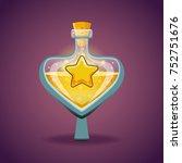 bottle with star  magic elixir. ...
